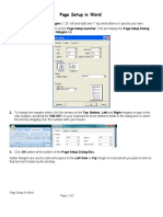 7 Page Setup in Word