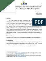 Relações epistemológicas existentes entre a teoria CríticoReprodutivista e a abordagem Crítico-Emancipatória