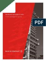 Bain Report India Real Estate