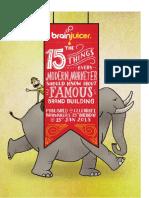 BrainJuicer 15th Birthday Booklet