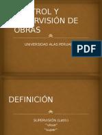 Presentación Control y Supervisión de Obras