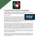 Sauti Ya Wanjiku Press Statement on Education, Curriculum Reform & Comprehensive Sexuality Education CSE