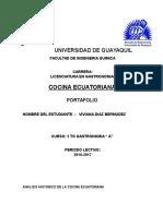 Analisis Historico de La Cocina Ecuatoriana