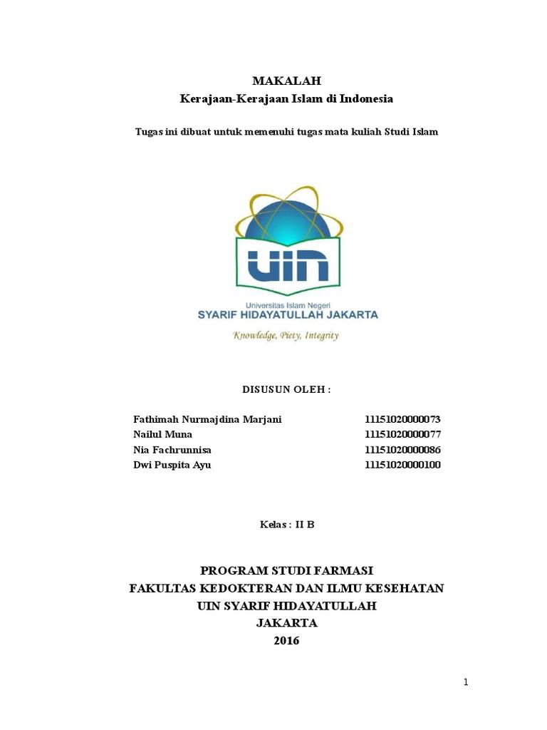 Studis Makalah Kel 10 Kerajaan Kerajaan Islam Di Indonesia Docx