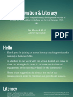 parent presentation - motivation   literacy
