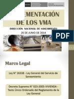 Implementación de Los VMA - Dirección Nacional de Saneamiento MVCS