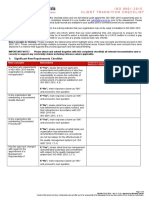 ISO 9001-2015 Transition Checklist C 01 Rev A