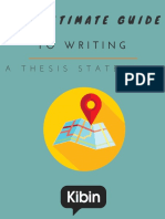 The Ultimate Guide to Writing a Thesis Statement Kibin