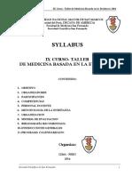 Sillabus Ix Curso Mbe 2014