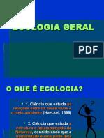 Ecologia Incial Níveis de Organização e Etc