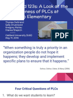 abcs and 123s- a look at the effectiveness of plcs at gretchko elementary  final