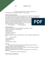 OB Pyelonephritis Case