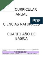 Plan Curricular Anual Ciencias Naturales 4to Va Cuarto