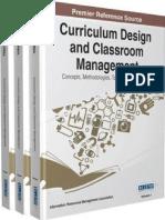 Curricum Design and Classroom Management