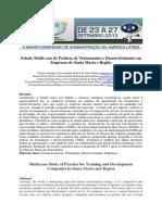 Estudo Multi-caso de Práticas de Treinamento e Desenvolvimento
