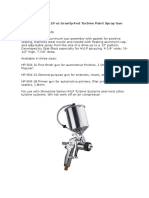 ProLine HVLP Gravity Turbine Spray Gun