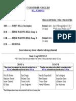 bell schedule summer school 2015
