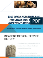 The Organization and the Analysis of the Inpatient Medical Aid