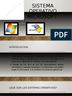 Sistema Operativo Microsoft
