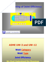 ASME Joint Efficiency