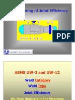ASME Joint Efficiency