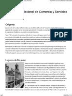 Historia de La Cámara Nac de Comercio y Servicios Uruguay