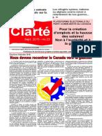 Clarté - Septembre 2015