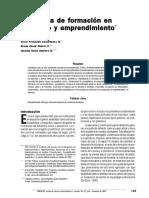 Propuesta de Formación en Liderazgo y Emprendimiento