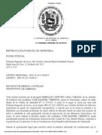 caso chirinos TSJ Regiones - Decisión