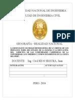 La Resultante Sociedad Heterogénea Rica y Difícil de Los Peruanos