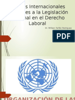 Normas Internacionales Aplicables a La Legislacion Nacional en El Derecho Laboral.