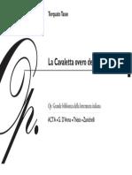 Torquato Tasso - Cavaletta Overo de La Poesia Toscana, La - Letteratura Italiana