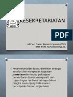 Kesekretariatan-materi Ldk Sma Pgri Sungguminasa