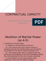 Contractual Capacity- Marriage in Community of Property