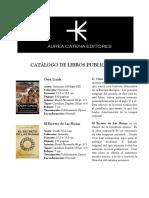 Catalogo de Libros Aurea Catena