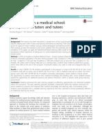 Tutoría Entre Iguales en Una Escuela de Medicina Percepciones de Tutores y Tutorados