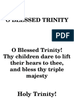 Entrance Song-o Blessed Trinity