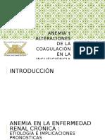 Anemia y alteraciones de la coagulación en la.pptx