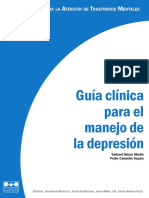Guía Clínica Para El Manejo de La Depresión
