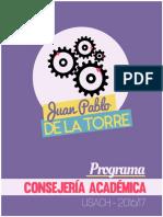 Programa Juan Pablo De la Torre Consejero Académico, Opción 4