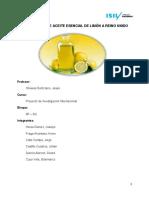 Exportación Aceite de Limón