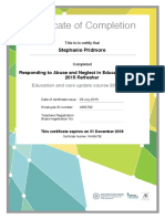 responding to abuse and neglect in education and care 2015 refresher certificate