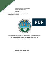 Propiedades de Inversion Tratamiento Contable en Guatemala - Fredi Fuentes