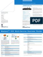 Mediant 500 MSBR Datasheet