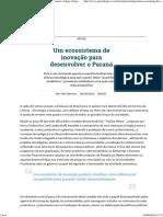 Um Ecossistema de Inovação Para Desenvolver o Paraná _ Artigos _ Gazeta Do Povo