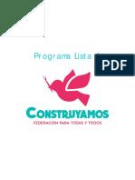 Programa Construyamos FEUSACH 2016