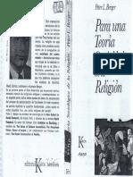Para Una Teoría Sociológica de La Religión- Peter Berger