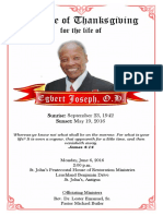 Daddy's Funeral Program