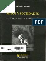 Durand Gilbert - Mitos Y Sociedades Introduccion a La Mitologia