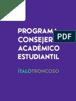 Programa Consejería Académica - Ítalo